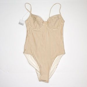 Monday Swimwear Swim - NWT Monday Swimwear Maui One Piece in Sand Stripe